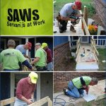 Servants At Work, people constructing accessible ramps