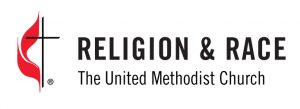 GCORR logo: Religion and Race, the United Methodist Church, with the Cross and Flame image